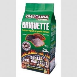 DIAVOLINA BRIQUETTE CARB.VEG.KG.2,5