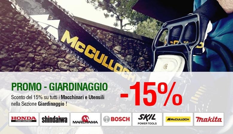 Promozione Macchinari e Utensili da Giardinaggio - 15%